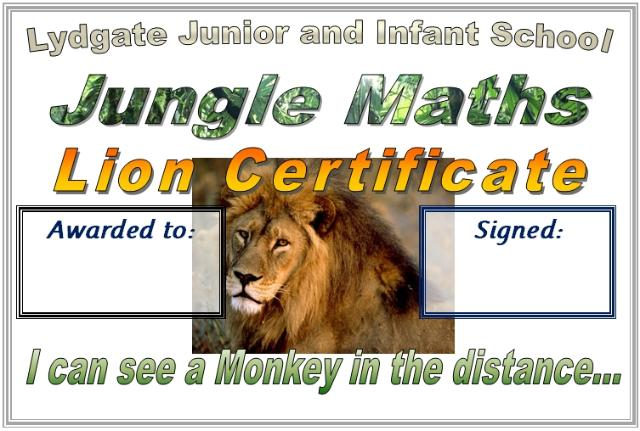 Jungle Certificate